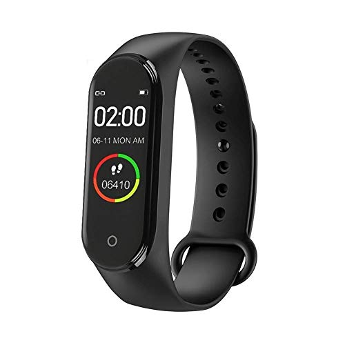 ePause M4 Smart Fitness Band Tracker Watch Bracelet- For Men, Women, Kids and Sports Activity Tracker, Waterproof Mobile Watch, With Functions Like Heart Rate Monitor, Blood Pressure, Calorie Counter.