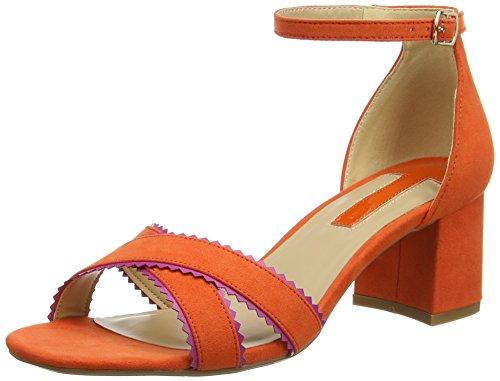 Dorothy Perkins Sonnet Scallop, Sandales à talon femme Orange (Orange)