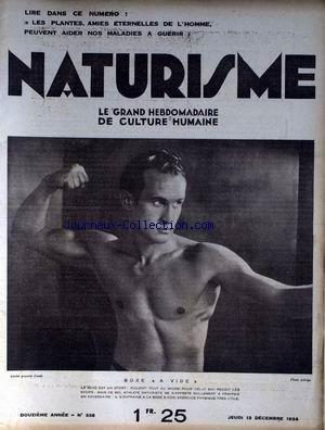 NATURISME [No 338] du 13/12/1934 - LES PLANTES AMIES ETERNELLES DE L'HOMME PEUVENT AIDER NOS MALADIES A GUERIR BOXE A VIDE. par Collectif