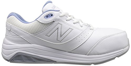 New Balance Women's WW928WB2 Walking Shoe, White/Blue, 10 2A US White/Blue