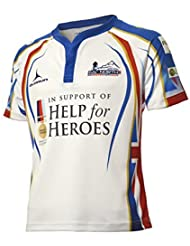 Ayuda para los Héroes 65grados Norte Rugby Camisa (S-XXXXL) ejército/Azul Marino/RAF, blanco, small