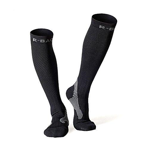 Unisex Medical Compression Socks Uomo Donna viaggio Sport d'aria in corso Calcio gioco jogging, la trombosi ginocchiera, calze, calze sportive,calzini Correre, calzini da corsa dimensione universale