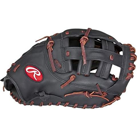Rawlings Women's Gamer 12.5in 1st Base Softball Mitt LH, Black First Base Mitt, 12.5