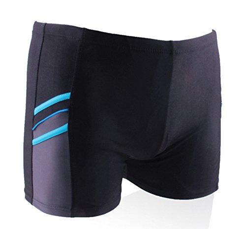 Hosaire Maillot de bain homme Boxer homme pour natation Taille unique Bleu
