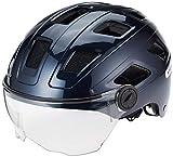 Abus Hyban+ Helmet Midnight Blue, Clear Visor Kopfumfang M/L | 56-61cm 2019 Fahrradhelm