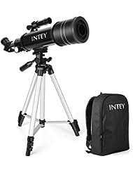 INTEY Télescope Astronomique Portable Télescope Réfracteur HD Ultra Clair Astronomie Observer des Etoiles Lune Ciel Pour Débutants Enfants Adolescents Comme un Cadeau