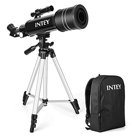INTEY Télescope Astronomique Portable Télescope Réfracteur HD Ultra Clair Astronomie