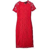 ميلا لندن فستان سهرة للنساء ، احمر ، مقاس 12 UK