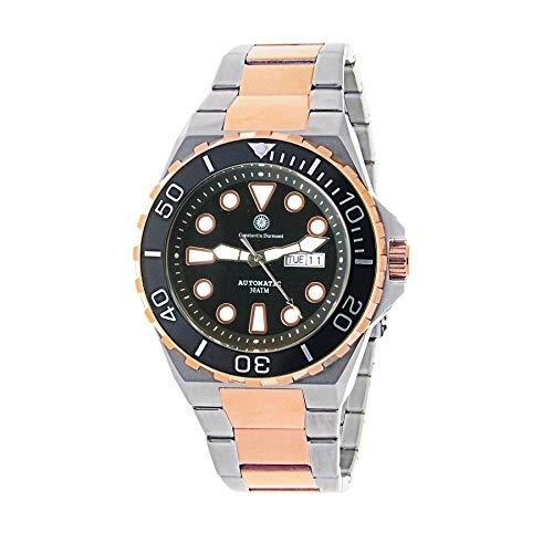 Constantin Durmont Herren Analog Automatik Uhr mit Edelstahl Armband Oceanbay Automatic 130743