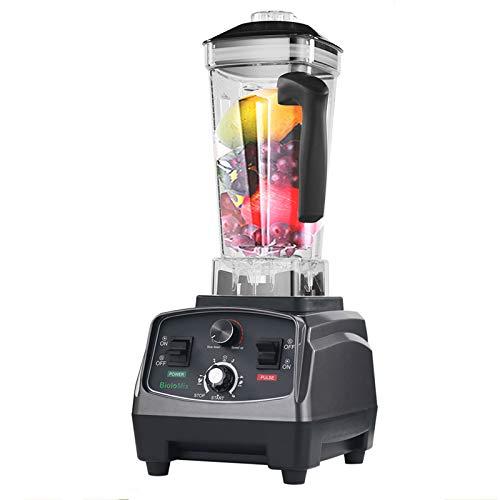 2200W Botella de plástico Mezclador de Alimentos Función de sincronización Heavy Duty Juicer de Frutas Caldera Licuadora y trituradora de Hielo,UK