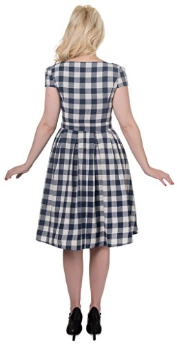 Dolly and Dotty Vanessa, Abbigliamento Casual Donna Blu (Navy Blue Check Print F)