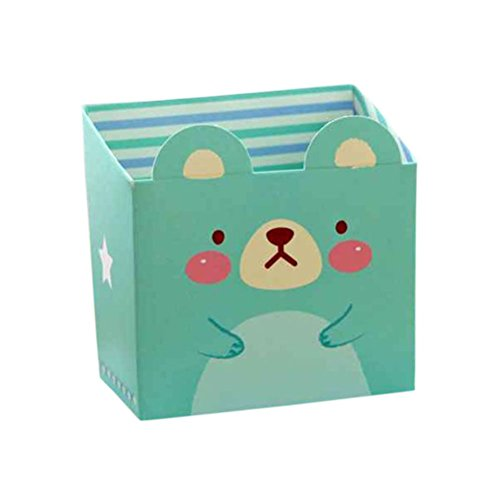 5ff9d41588ef7 Amybria Schreibwaren Aufbewahrungsbox Karikatur Tier Papierkasten  Schreibtisch Veranstalter Behälter Box für Stift Federmäppchen Schreibtisch  Organizer Grün
