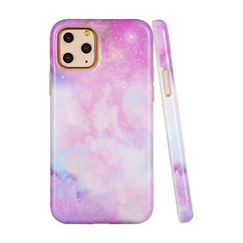 SunshineCases【kompatibel: Apple iPhone 11 Pro Max】 schlanke, volle Hülle, süße Schutzhülle für Frauen und Mädchen, Unicorn Marble Galaxy
