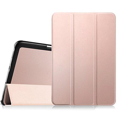 Fintie Samsung Galaxy Tab S2 8.0 Custodia - Ultra Sottile Di Peso Leggero Tri-Fold Smart Case Cover Sleeve Con Funzione Sleep/Wake per Samsung Galaxy Tab S2 8.0' (8 pollici) Tablet, Oro Rose