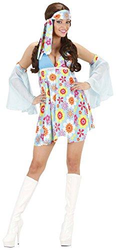 Kostüm Girl Seventies - Widmann 2080-Damen 70er Jahre blau, Farben sortiert, Größe S