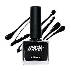 Nykaa Pop Nail Enamel - Black Licorice, No. 84 (9ml)