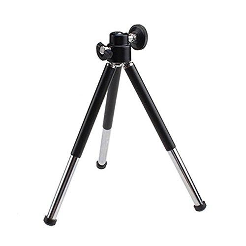 Gemini _ Mall® Mini 360° verstellbares Stativ Ständer Halterung + Handy Halterung Für iPhone 676S Plus 5S 5C 54S 4iPod Touch 4Samsung Galaxy S6/S5/S4/S3HTC, schwarz, Einheitsgröße