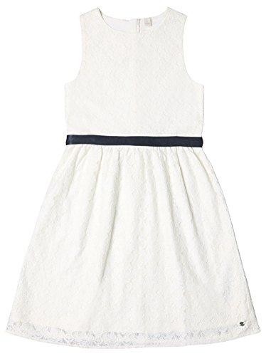 ESPRIT KIDS Mädchen Kleid RL3002512, Weiß (Off White 110), 164 (Herstellergröße: L)