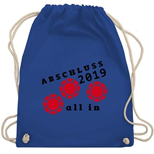 l In - Abschluss 2019 - Unisize - Royalblau - WM110 - Turnbeutel & Gym Bag ()