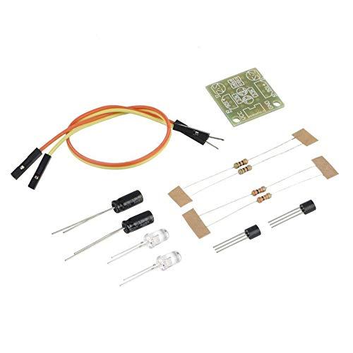 Hot 5 MM LED Einfache Blitzlicht Einfache Flash Circuit Produktionsboard DIY Kit Set Großhandel elektronische