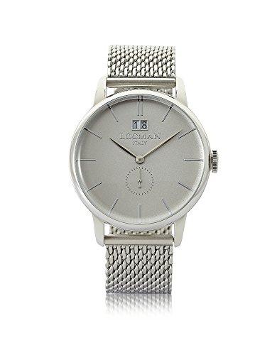 LOCMAN Herren 0252V0600agnkb0 Silber Stahl Uhr
