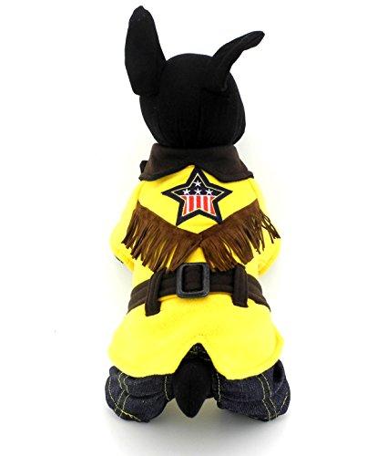 zunea Western Cowboy Kleiner Hund Katze Overall Pullover Shirt mit Denim Overalls Pet Puppy Rock Kleid Chihuahua Kleidung Outfits ()