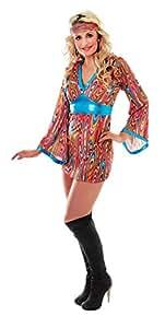 """Bristol Novelty AC743 """"GoGo Swirl"""" Female Costume (One Size)"""