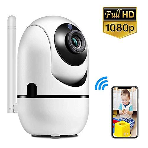 Mini WLAN IP Kamera Y13G, 1080P HD WiFi Überwachungskamera mit 355°/120° Schwenkbar Sicherheitskamera mit Zwei-Wege-Audio, Smart Schwenkbar, unterstützt Fernalarm für Haustier/Baby Monitor MEHRWEG