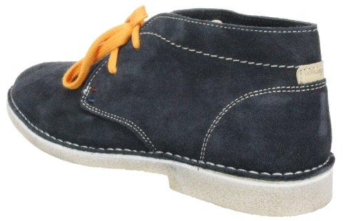 Wrangler pour homme Daim Churlish desert Chaussures montantes à lacets Gris - Bleu marine