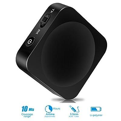Achat keenstone Mini Bluetooth Emetteur et Récepteur 2-en-1, sans Fil Bluetooth 4.1 Transmetteur et Récepteur 3.5mm Portable Adaptateur 2 Appareils Simultanément pour Parfait Effets Sonores Système par keenstone