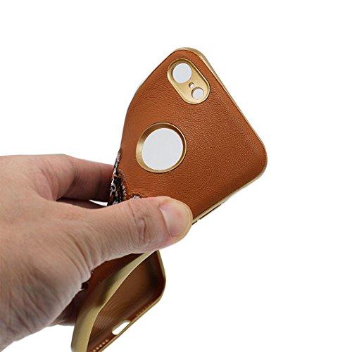iPhone 6s Custodia, Gomma morbida flessibile TPU Case iPhone 6S/6 copertura 4.7 Cover protettivo antiurto completo + Gel Soft - Cartoon Cranio vampiro elegante Marrone
