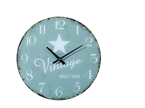 Out of the Blue 79/3215 Glas-Wanduhr, Vintage Star, Durchmesser Circa 30 cm für 1 Mignon Batterie...