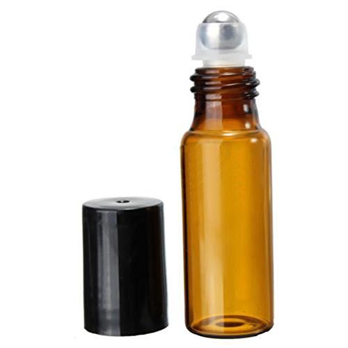 Lot de 10 bouteilles en verre 5 ml/10ml pour l'huile essentielle / parfum