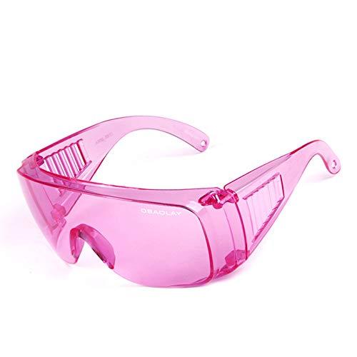 KnSam Winddicht Uv-Beständig Sportbrille Clear Kratzfester Scheibe Panoramablickfeld Rosa Schutzbrille