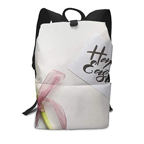 Weiße Blumen-glückliche Rucksack-Mitte für Kinderjugendlich-Schulreisetasche