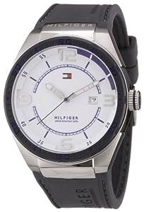 Reloj Tommy Hilfiger 1790806 de cuarzo para hombre con correa de silicona, color gris de Tommy Hilfiger