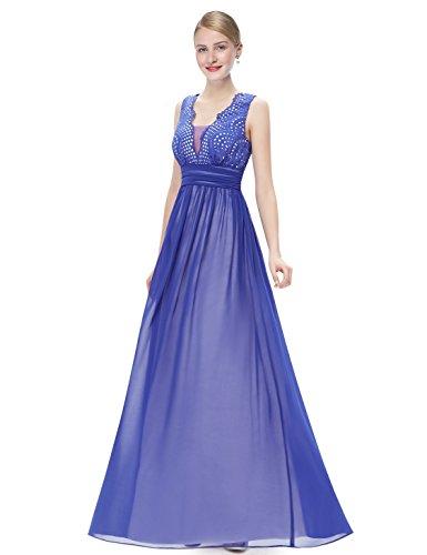 Ever Pretty Damen Elegant Ärmellos Abendkleider Party Kleider 08019 Saphirblau