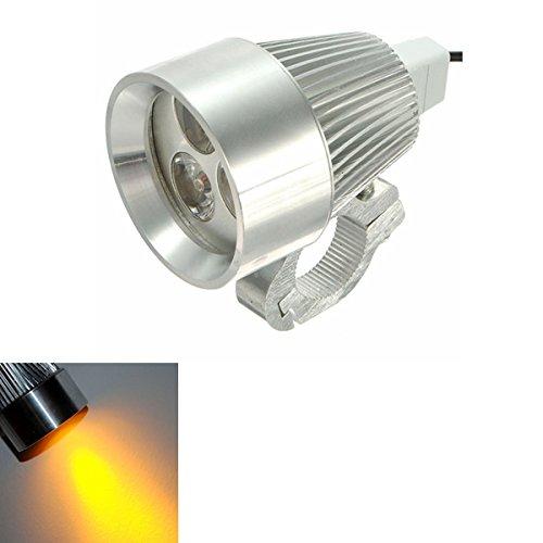 Preisvergleich Produktbild ILS - 12V 15W Motorcycle Car Bicycles LED Day Spot Lightt Yellow Light