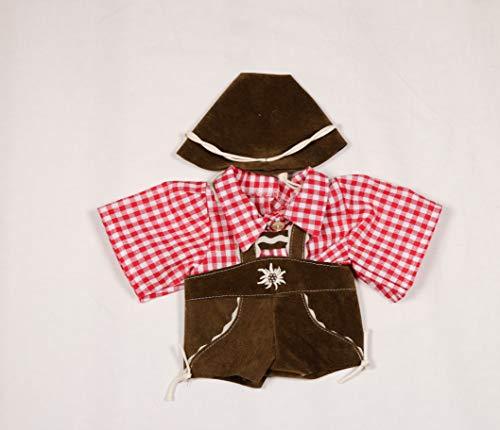 Puppenmode Sturm 8885-T40 3-teilig Trachten-Set für Teddys, Mehrfarbig