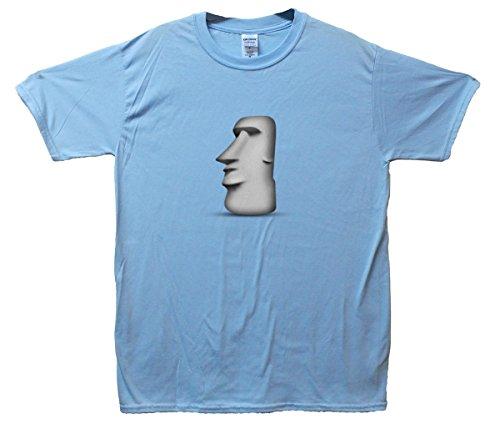 Moyai Emoji T-Shirt Hellblau