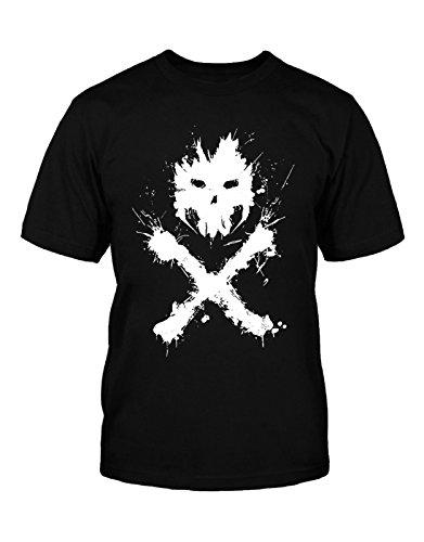 Captain America Kids T Shirt Civil War Crossbones Logo Official Mens Black