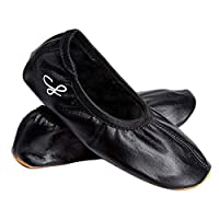 Siegertreppchen Gymnastic Dance Shoes Nelli Unisex Boys & Girls Black. Leather Shoes Black with Excellent Grip Kids