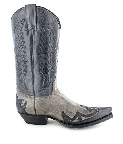 Sendra Boots 13170, Stivali uomo Marrone marrone Multicolore (Negro Grigio)