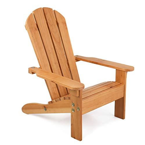 KidKraft 83 Adirondack Outdoor Lounge Stuhl aus Holz - Gartenmöbel für Kinder - honigfarben