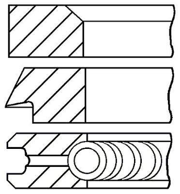 Goetze Engine 08 - 131300 - 00 Set de bagues de Piston