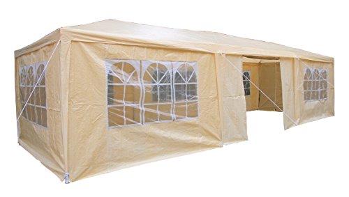AirWave 5060176861916 - Pabellón, 3 x 9 m, de color beige, incluyendo 3 x varillas de diseño único de viento para la estabilidad especial
