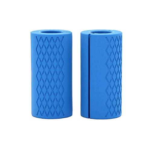 Hihey Hantelgriffe aus Silikon Blau Grips Smallsize Hantelgriffe Fat Bar Grips Universal Arm Bar Bell Griffe Gripz zum Fitness und Bodybuilding Training (Fat Bar Griffe)