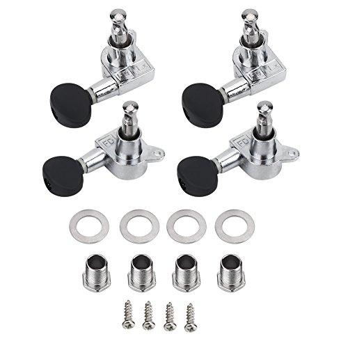 Alomejor Mechaniken Stimmwirbel 2R2L Stimmwirbel Saitentuning mit Schrauben für Ukulele DIY Teile