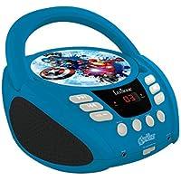 Lexibook Marvel The Avengers Iron Man Boombox CD-Player, Mikrofonanschluss, Aux-Eingangsbuchse, AC-Betrieb oder Batterie, blau/Schwarz, Rcd108Av_10