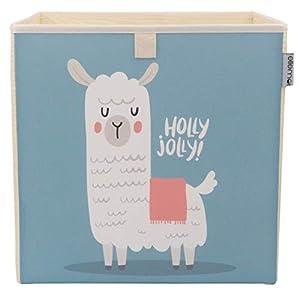 Kinder Aufbewahrungsbox von ELLEMOI Faltbare Spielzeug Box (33x33x33) zur Aufbewahrung im Kallax Regal (Fräulein Alpaka)